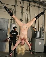 Hot Blonde in Rough Bondage!