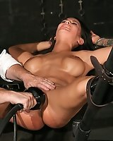 Huge tits Angelina in rough bondage!