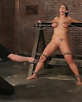 Massive tits tied and whipped!