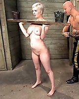 Slave girl Cherry Torn licks come off the filthy floor
