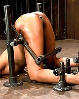 Bound and helpless Kapri Styles`s oiled huge ass is up and ready.