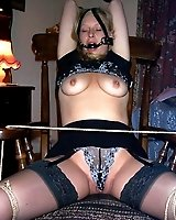 Amateur GFs cuffed and bound