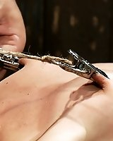 Amber Rayne is bound in chains and suffers the ancient Roman stretching torture.  Jade Indica is bound in hard metal and brutally fucked by Isis Love.