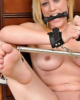 Amazing Tied Virgin Axa Jay returns and is made to cum when tied up!